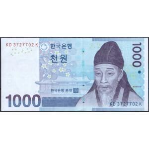 Корея 1000 вон 2007 - UNC