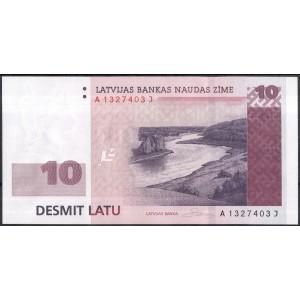 Латвия 10 лат 2008 - UNC