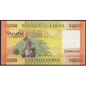 Ливан 10000 ливров 2012 - UNC