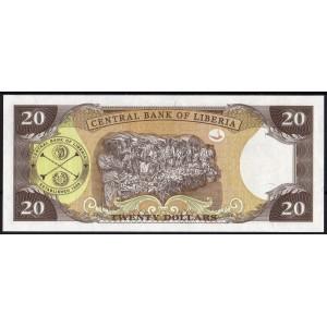 Либерия 20 долларов 2011 - UNC