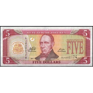 Либерия 5 долларов 2011 - UNC