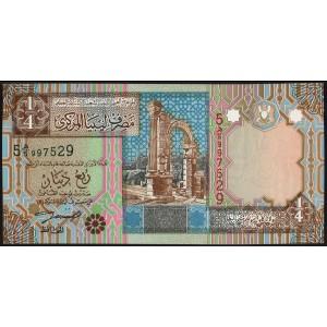 Ливия 1/4 динара 2002 - UNC