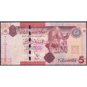 Ливия 5 динаров 2011 - UNC