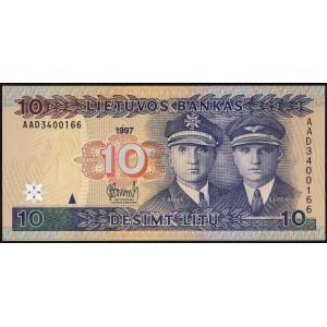 Литва 10 литов 1997 - UNC