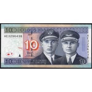 Литва 10 литов 2007 - UNC