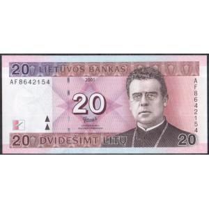 Литва 20 литов 2001 - UNC