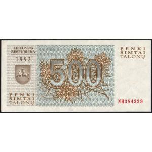 Литва 500 талонов 1993 - UNC