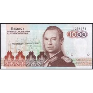 Люксембург 1000 франков 1986 - UNC
