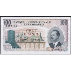 Люксембург 100 франков 1968 - UNC