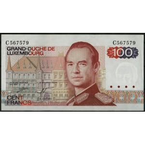 Люксембург 100 франков 1980 - UNC