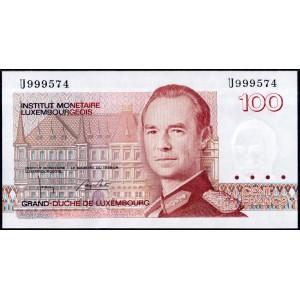 Люксембург 100 франков 1986 - UNC
