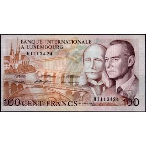 Люксембург 100 франков 1981 - UNC