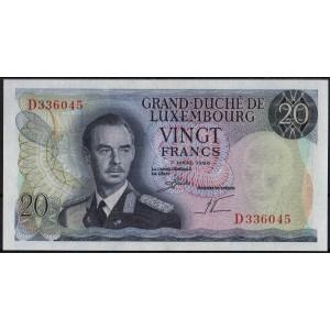 Люксембург 20 франков 1966 - UNC