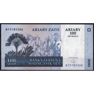 Мадагаскар 100 ариари 2007 - UNC