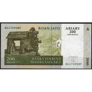 Мадагаскар 200 ариари 2007 - UNC