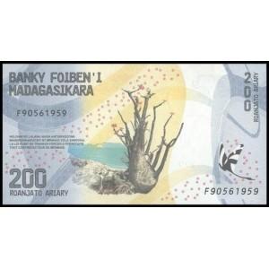 Мадагаскар 200 ариари 2017 - UNC