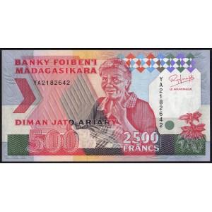Мадагаскар 2500 франков 1993 - UNC