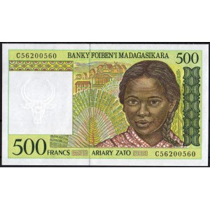 Мадагаскар 500 франков 1994 - UNC