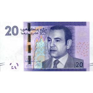Марокко 20 дирхам 2012 - UNC