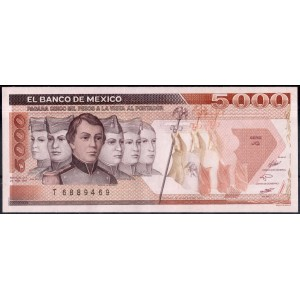 Мексика 5000 песо 1987 - UNC