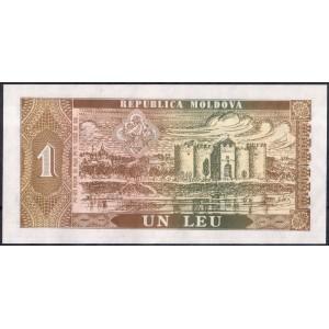 Молдавия 1 лей 1992 - UNC