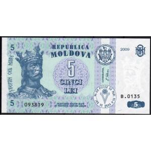 Молдавия 5 леев 2009 - UNC