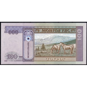 Монголия 100 тугриков 2008 - UNC