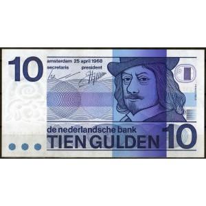 Нидерланды 10 гульденов 1968 - UNC