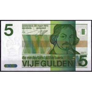 Нидерланды 5 гульденов 1973 - UNC