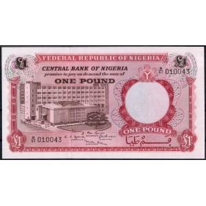 Нигерия 1 фунт 1967 - UNC
