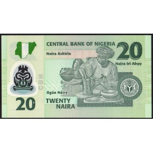 Нигерия 20 наира 2008 - UNC