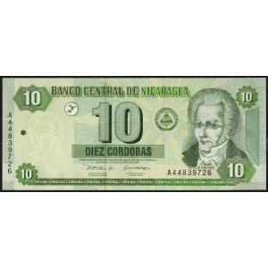 Никарагуа 10 кордоб 2002 - UNC