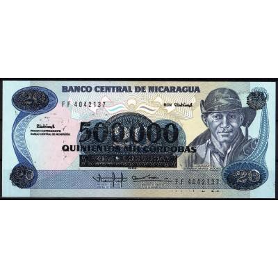 Никарагуа 500000 кордоб 1990 - UNC
