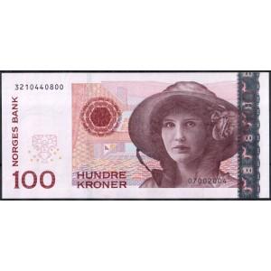 Норвегия 100 крон 2004 - UNC