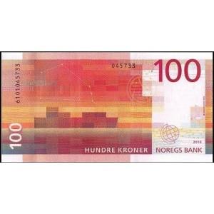 Норвегия 100 крон 2016 - UNC