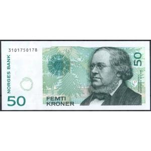 Норвегия 50 крон 1998 - UNC