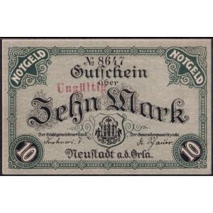Нойштадт 10 марок 1918 - UNC