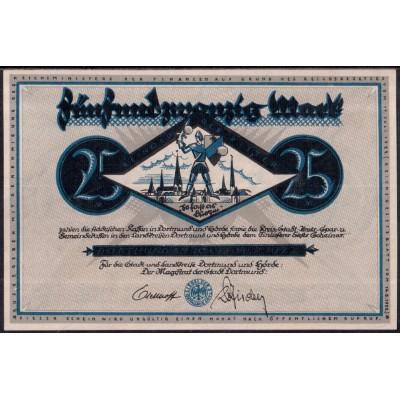 Дортмунд 25 марок 1922 - UNC