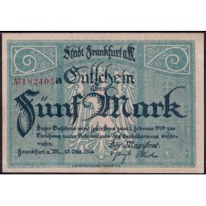 Франкфурт 5 марок 1918 - UNC