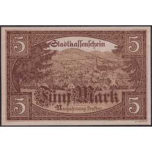 Фуртванген 5 марок 1918 - UNC