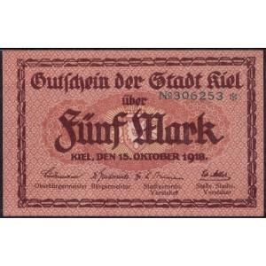 Киль 5 марок 1918 - UNC