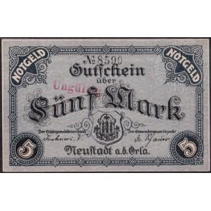 Нойштадт 5 марок 1918 - UNC