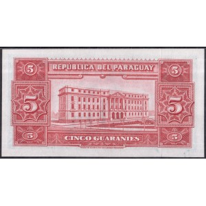 Парагвай 5 гуарани 1952 - UNC