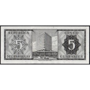 Парагвай 5 гуарани 1963 - UNC