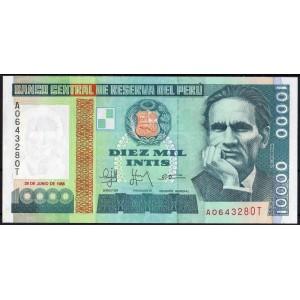 Перу 10000 инти 1988 - UNC