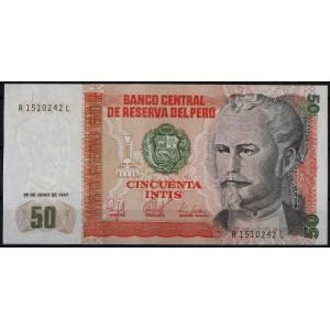 Перу 50 инти 1987 - UNC