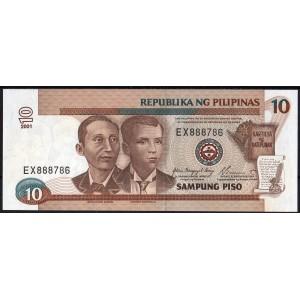 Филиппины 10 песо 2001 - UNC