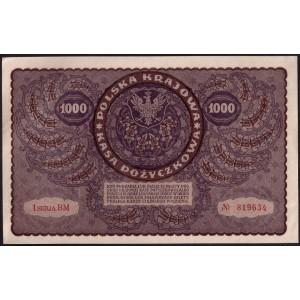 Польша 1000 марок 1919 - AUNC