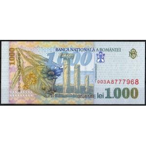 Румыния 1000 лей 1998 - UNC
