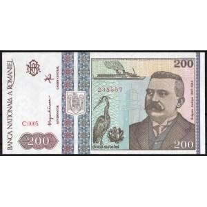Румыния 200 лей 1992 - UNC